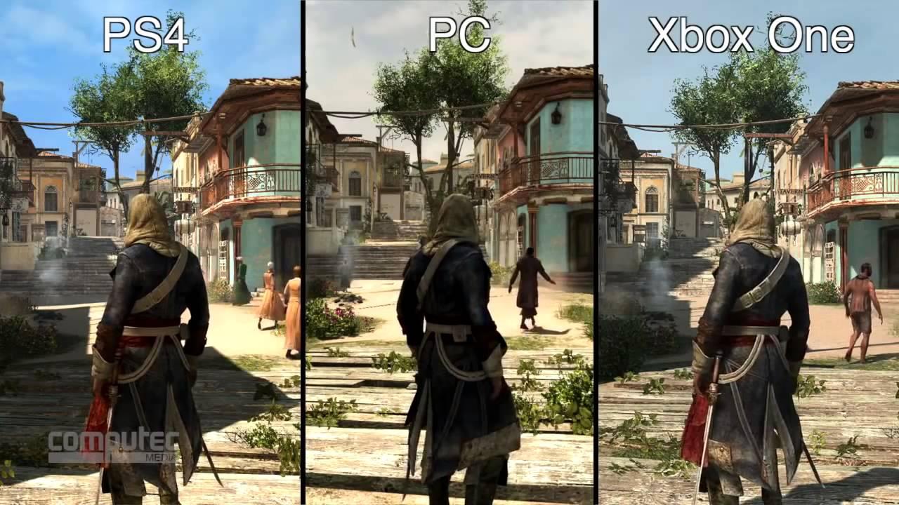 Assassins Creed 4 Black Flag Xbox One vs PS4 vs PC im ...