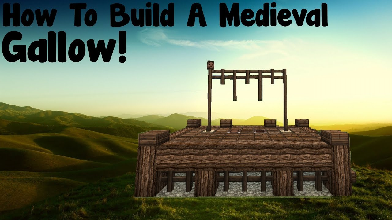 Minecraft Tutorial  How To Build A Medieval Gallow  YouTube