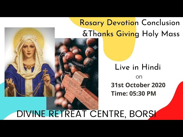 Live Holy Mass in Hindi | Saturday  | 31st October 2020 | 05:30 PM