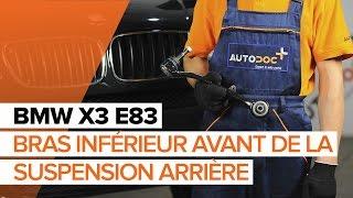 Remplacer Triangle de direction arrière et avant BMW X3 (E83) - instructions vidéo
