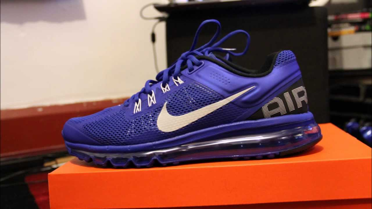 competitive price 1805c be08c Nike Air Max 2013 HYPER BLUE - YouTube