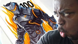 OMEGA LEVEL 100 DRAWING | FORTNITE SKIN - BATTLE ROYALE