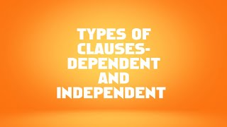 Dependent And Independent Clauses - Unduh video