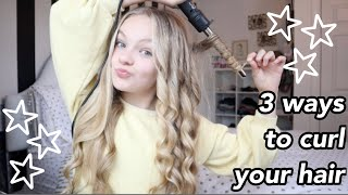 3 different ways t๐ curl your hair!! // Pressley Hosbach