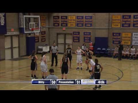High School Girls Basketball: Archbishop Mitty at Presentation