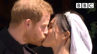 First kiss, epic carriage ride! | Prince Harry and Meghan Markle - The Royal Wedding - BBC thumbnail