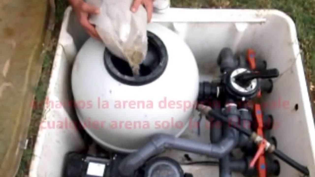 Cambio De Arena Silica En Filtro De Agua De Alberca Youtube