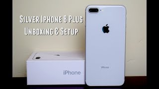 Silver iPhone 8 Plus Unboxing & Setup