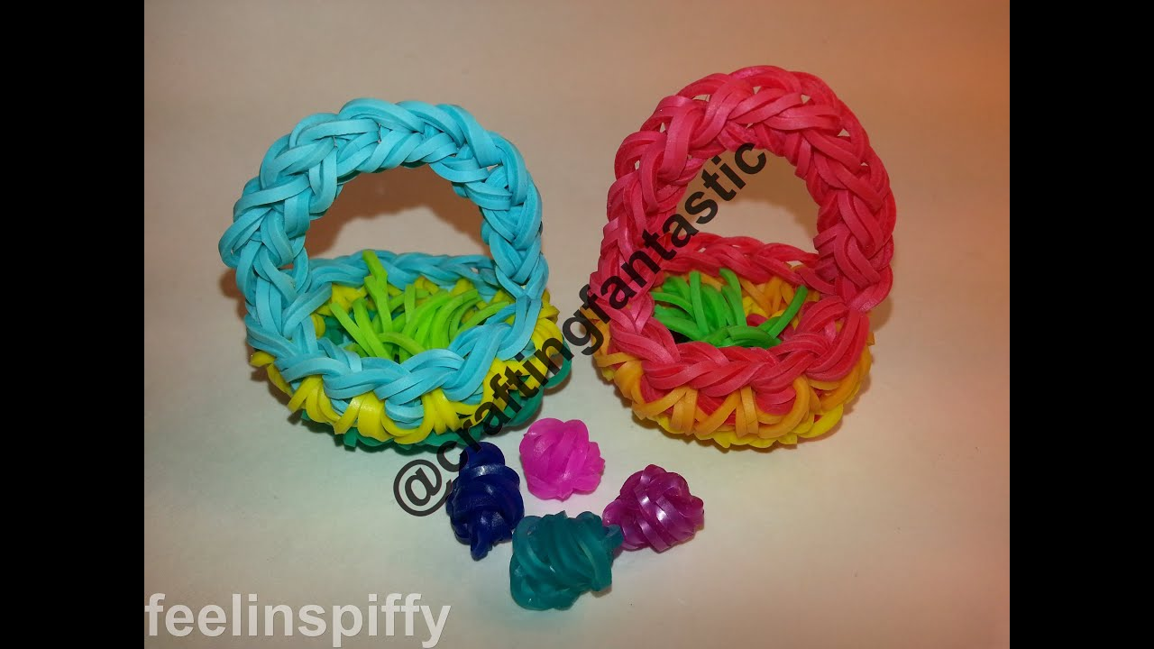 How To Make The Basket Weave Rainbow Loom : Easter basket tutorial by feelinspiffy rainbow loom