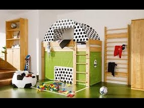 Decoracion de cuartos de futbol de ni os 3 youtube for Cuartos decorados para bebes