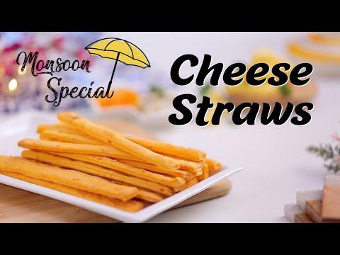 Cheese Straws Recipe | How To Make Cheese Straws | Eggless Puff Pastry Cheese Straws By Megha Joshi