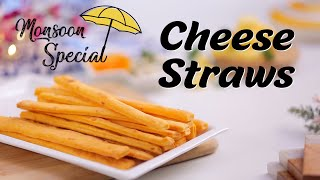 Cheese Straws Recipe  How To Make Cheese Straws  Eggless Puff Pastry Cheese Straws By Megha Joshi