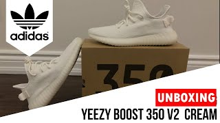d18d5c2583f Adidas Yeezy Boost 350 V2 Triple White (Cream) Unboxing  amp  On Foot Review