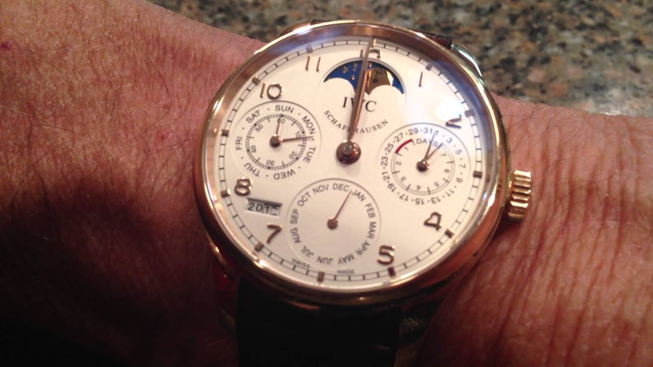 Perpetual Calendar Watch >> IWC Portuguese Perpetual Calendar Changing to New Year ...