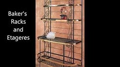 wrought iron baker's racks, iron etageres, Grace iron furniture