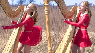 MY IMMORTAL (Evanescence) Harp Twins - Camille and Kennerly HARP ROCK