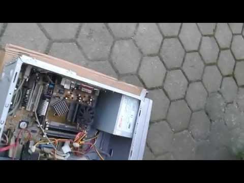 Computer cleaning with compressed air