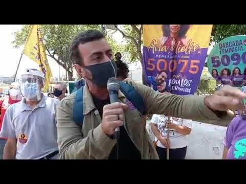 Marcelo Freixo participa de campanha de Boulos em São Paulo
