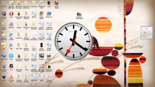 Mondaine Watch / Swiss Railway Clock Gadget for Windows 7 and Vista