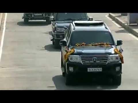 Exotic web media : PM Modi receives Israeli PM Netanyahu at Ahmedabad Airport, Gujarat