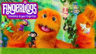 New Cute Surprise Fingerlings Baby Monkey Toys Playground Playset Toy Review ⭐ Fuzzy Puppet