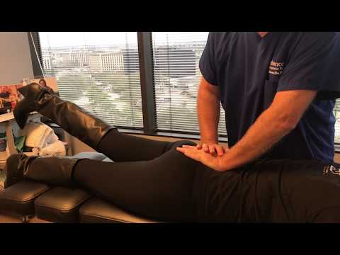 Houston Lady Gets Adjustment By Houston Chiropractor Dr Gregory Johnson