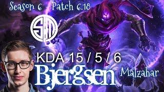 TSM Bjergsen MALZAHAR vs VARUS Mid - Patch 6.18 KR Ranked | League of Legends