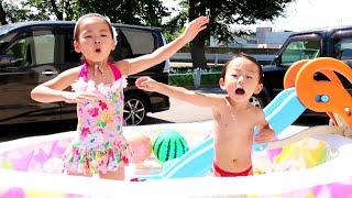 プール遊びを楽しんだゾRino&Yuuma thumbnail