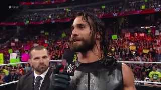 """Seth Rollins calls out """"The Daily Show"""" host Jon Stewart: Raw, February 16, 2015"""