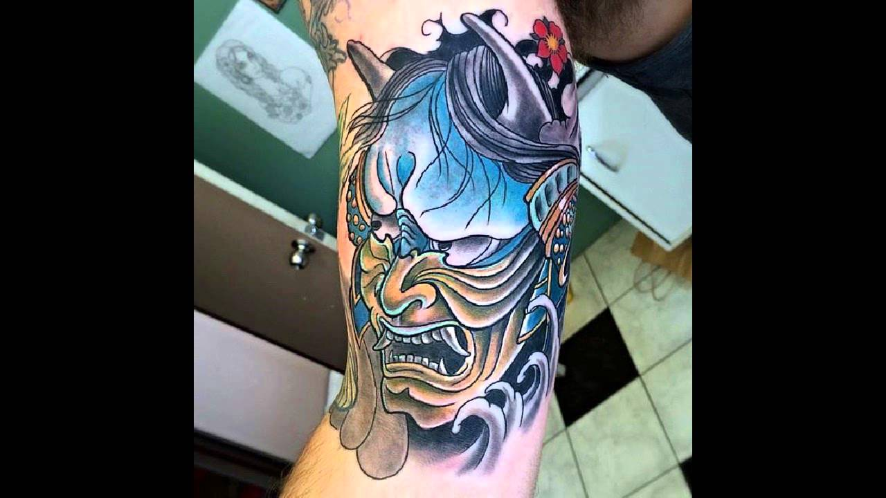 35 Gorgeous Japanese Mask Tattoos - YouTube