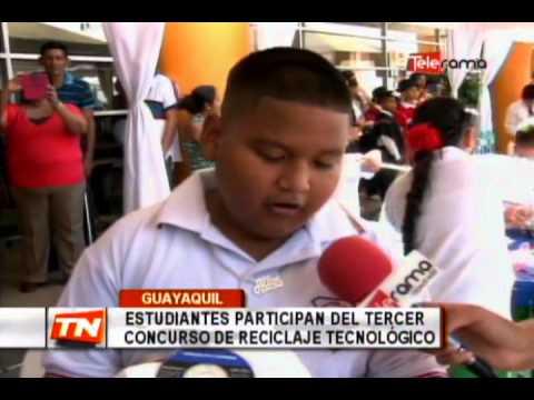 Estudiantes participan del tercer concurso de reciclaje tecnológico