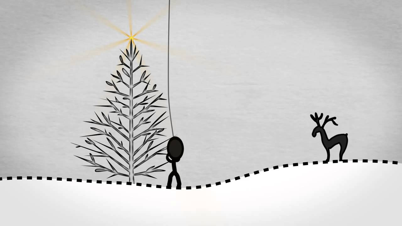Stick Man 1 Animated Christmas Card Company Message Video for any ...