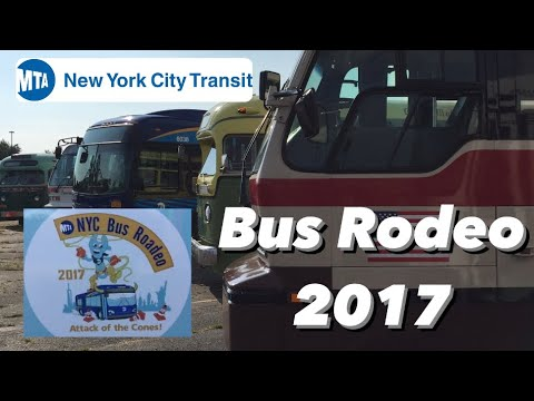 MTA NYCT Aqueduct Racetrack Bus Rodeo 2017 Action