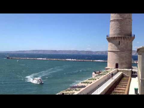 Le Vieux Port de Marseille from inside the Museum
