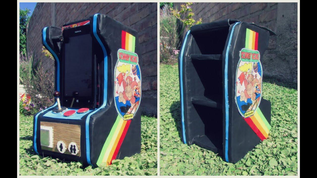 Mini mueble de cartón retro: Arcade game ♥ (mueble porta celular ...
