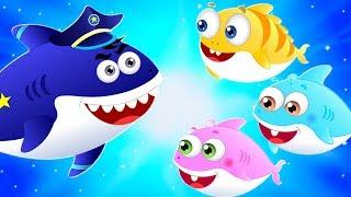 Police Shark Rescue Baby Shark from Caves | Kids Halloween Cartoon Song