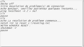 Résoudre le Problème de connectivité limité ou inexistante | XP