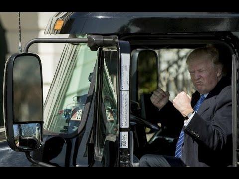 Trump Honks Truck Horn At White House