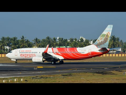 Air India Express Boeing 737-800 takeoff from Trivandrum International Airport [HD]