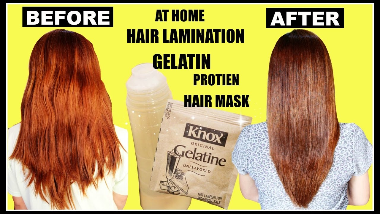Diy Hair Lamination Using Gelatin For Dry Damaged Hair Split Ends