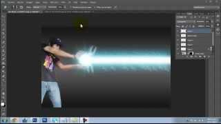 Tutorial Photoshop Cs6 - Kame hame ha! estilo Dragon Ball Z