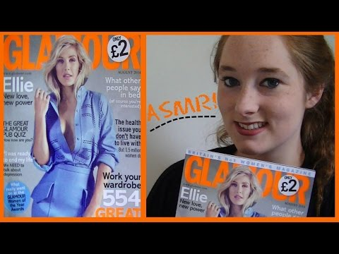 *ASMR* Soft Spoken Page Flipping: Glamour magazine (issue: August 2014) | Amy McLean