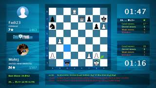 Chess Game Analysis: Mohtj - Fadi23 : 1-0 (By ChessFriends.com)