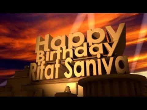 Happy Birthday Rifat Saniaya