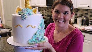 Gambar cover I MADE A UNICORN CAKE | BAKE WITH ME