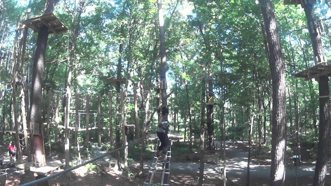Ziplining In Va Beach Pt 1