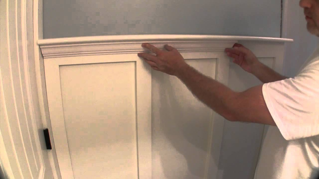 build simple bathroom wainscot pt 2 youtube. Black Bedroom Furniture Sets. Home Design Ideas
