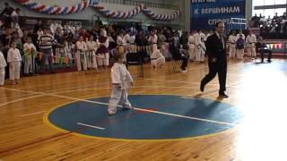 Варвара Шебанова 5 лет. Первые соревнования по каратэ (ката)