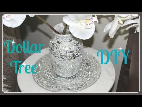 💍Dollar Tree Vase & Plate DIY 2017💎