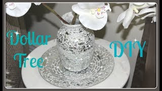 💍Dollar Tree Vase & Plate DIY 2017💎